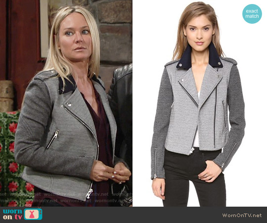 Theory Adashi K Jacket worn by Sharon Collins (Sharon Case) on The Young & the Restless