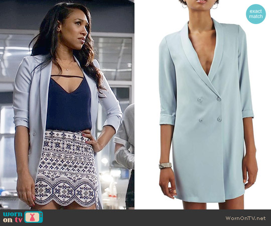 Topshop Slouchy Longline Blazer worn by Candice Patton on The Flash