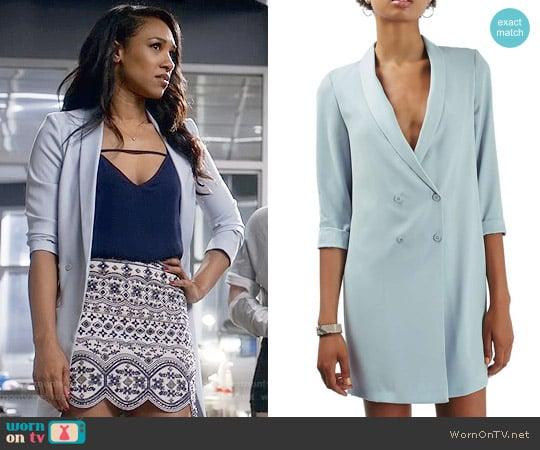 Topshop Slouchy Longline Blazer worn by Iris West (Candice Patton) on The Flash