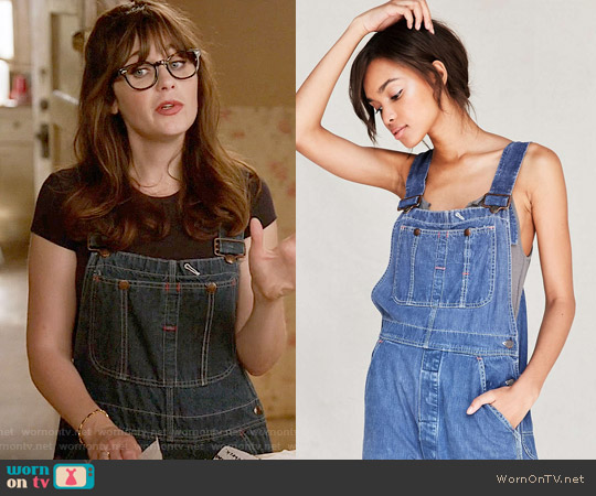 Urban Renewal Vintage Overall worn by Zooey Deschanel on New Girl