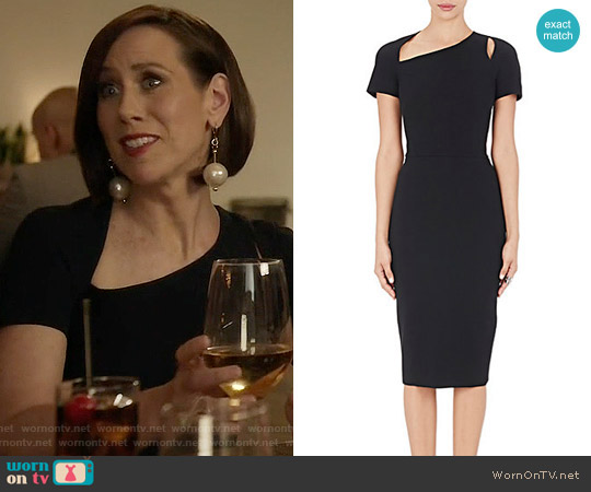 Victoria Beckham Matte Crepe Fitted Sheath Dress worn by Diana Trout (Miriam Shor) on Younger