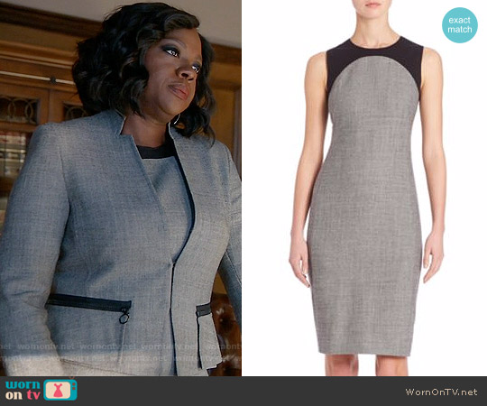 Akris Punto  Jersey Trim Wool Sheath Dress worn by Annalise Keating on HTGAWM