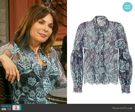 Alexis Julian Lace Blouse worn by Lauren Koslow on Days of our Lives