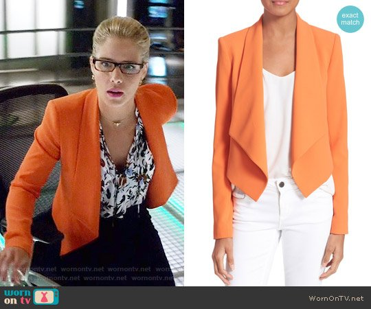 Alice & Olivia Harvey Jacket worn by Felicity Smoak on Arrow