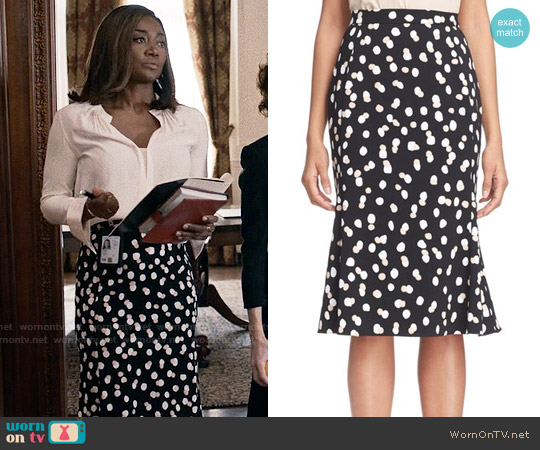 Altuzarra 'Novak' Dot Cady Trumpet Skirt worn by Daisy Grant (Patina Miller) on Madam Secretary