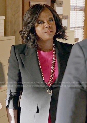 Annalise's black blazer on How to Get Away with Murder
