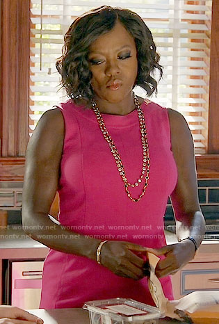 Annalise's pink dress on How to Get Away with Murder