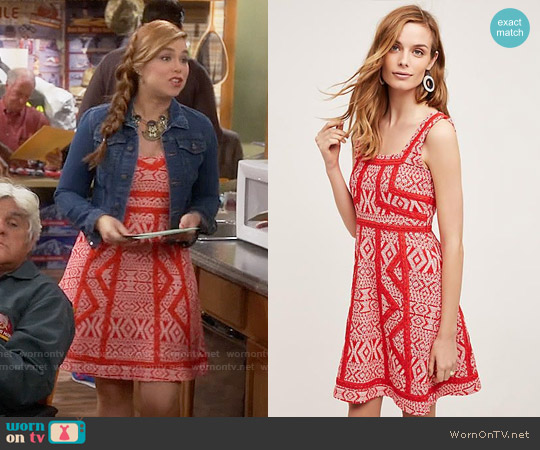 Anthropologie Emma Dress worn by Amanda Fuller on Last Man Standing