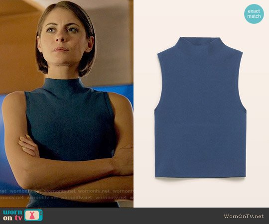 Babaton Walter Sweater in Moody worn by Willa Holland on Arrow