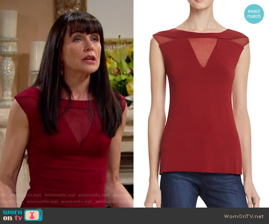 Bailey 44 Courtney Top worn by Quinn Fuller (Rena Sofer) on The Bold & the Beautiful