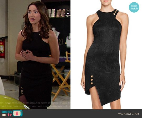 Bariano Asymmetrical Grommet Studded Dress worn by Ashleigh Brewer on The Bold & the Beautiful