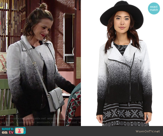 BB Dakota Bell Ombre Jacket worn by Melissa Claire Egan on The Young & the Restless