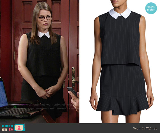 Bcbgmaxazria 'Abygail' Pinstripe Popover Dress worn by Mara McCaffray on The Young & the Restless