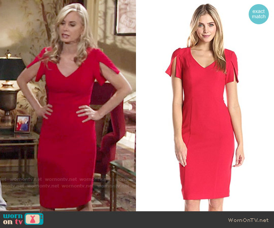 Black Halo Olive Dress worn by Ashley Abbott (Eileen Davidson) on The Young & the Restless