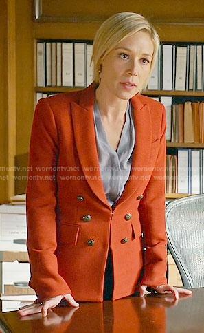Bonnie's orange blazer on How to Get Away with Murder