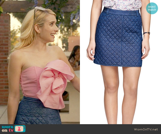 Brooks Brothers Cotton Quilted Skirt worn by Chanel Oberlin on Scream Queens
