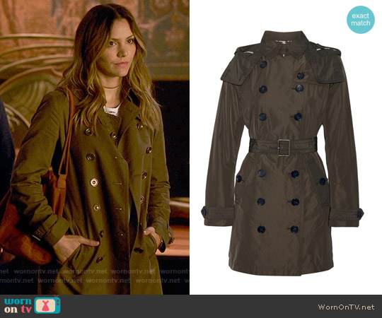 Burberry Balmoral Trench worn by Katharine McPhee on Scorpion