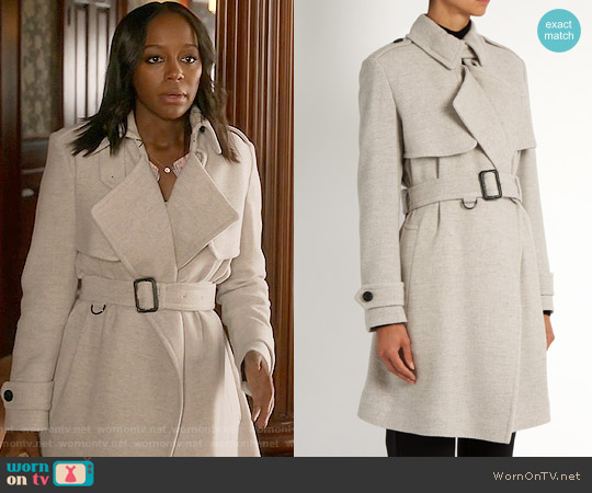 Burberry Leveson Cashmere Coat worn by Michaela Pratt (Aja Naomi King) on HTGAWM