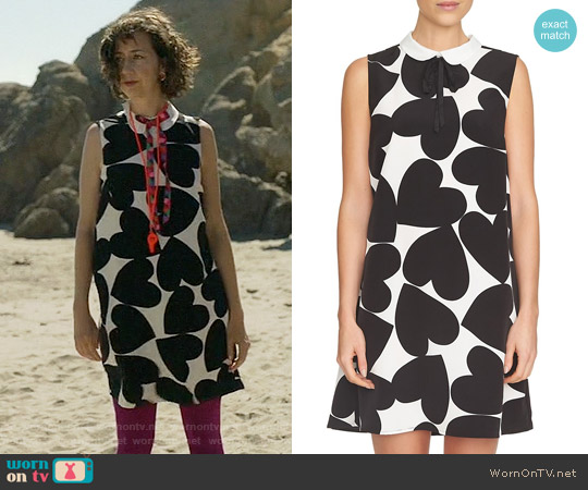 Cece Heart Print A-Line Dress worn by Kristen Schaal on Last Man On Earth