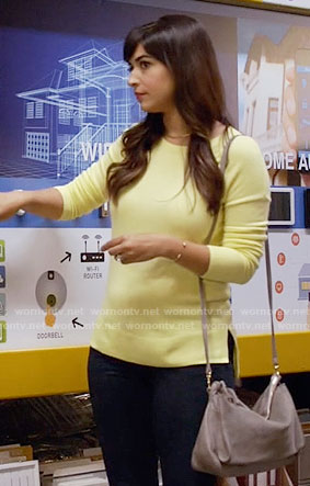 Cece's yellow sweater on New Girl