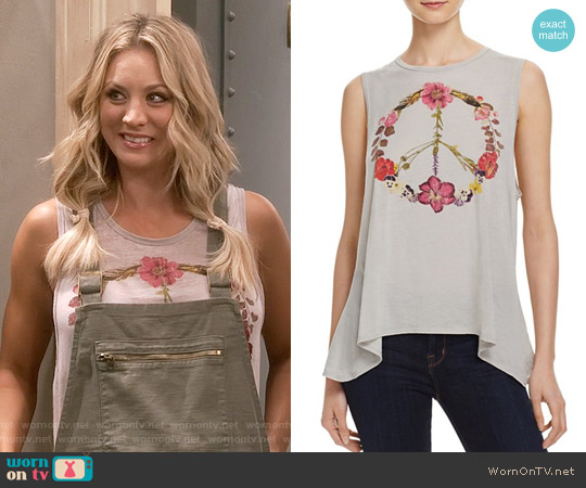 Chaser Wild Flower Peace Tank worn by Kaley Cuoco on The Big Bang Theory