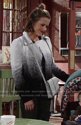 Chelsea's ombre jacket on The Young and the Restless