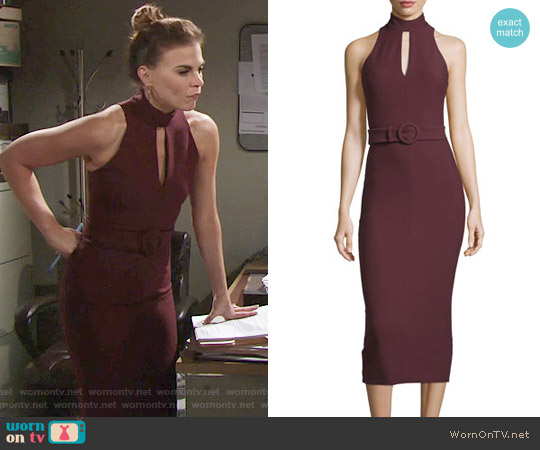 Cinq a Sept Juniper Dress worn by Gina Tognoni on The Young & the Restless