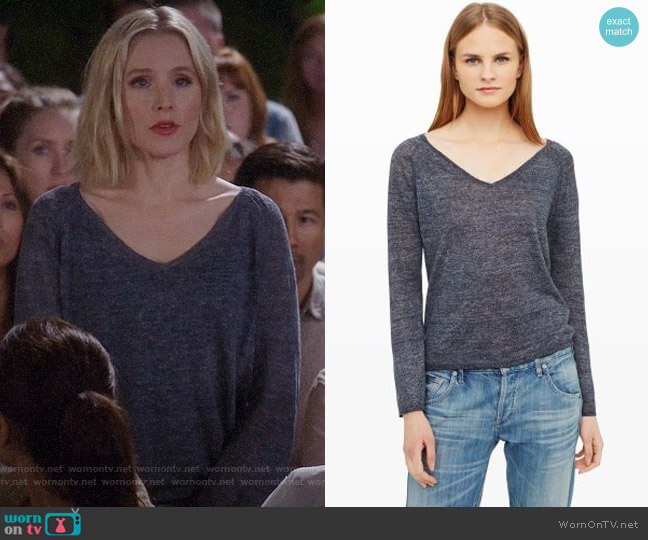 Club Monaco Hartford Mouline Sweater worn by Kristen Bell on The Good Place