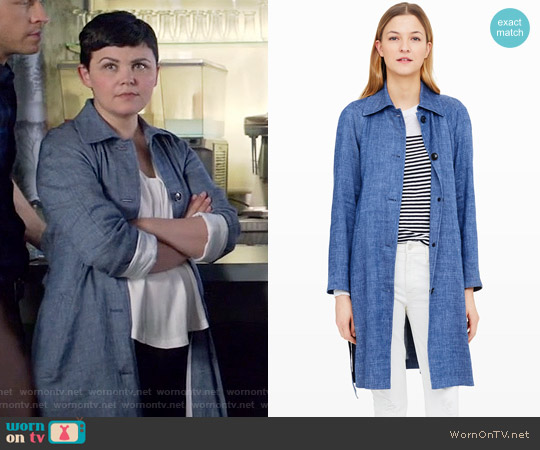 Club Monaco Tymber Denim Trench worn by Mary Margaret