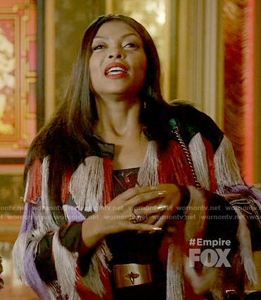 Cookie's fringed coat on Empire