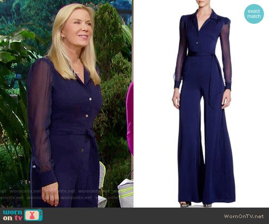 Diane von Furstenberg Cathy Jumpsuit worn by Katherine Kelly Lang on The Bold & the Beautiful