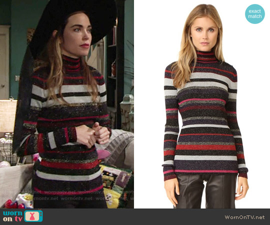 Diane von Furstenberg Leela Sweater worn by Victoria Newman (Amelia Heinle) on The Young & the Restless