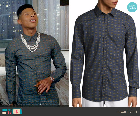 Dolce & Gabbana Crown-Print Cotton Sportshirt worn by Bryshere Y. Gray on Empire