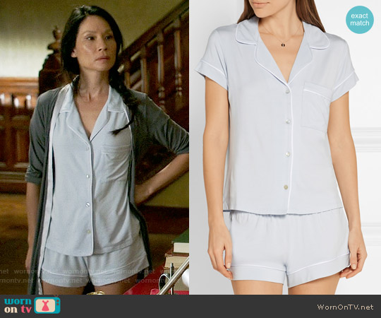 Eberjey Gisele Pajamas worn by Lucy Liu on Elementary