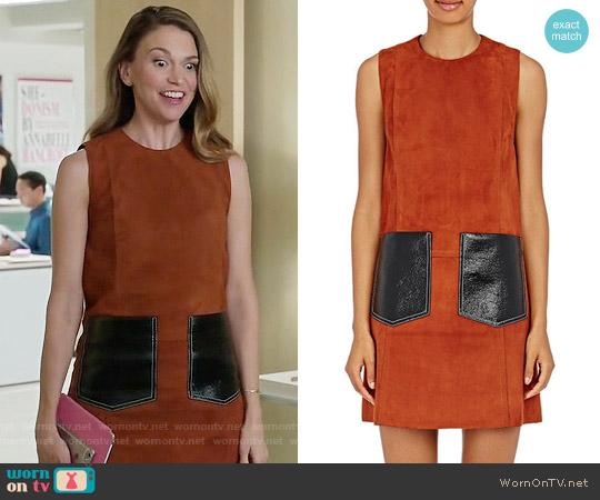 Edun Suede Shift Dress worn by Liza Miller (Sutton Foster) on Younger