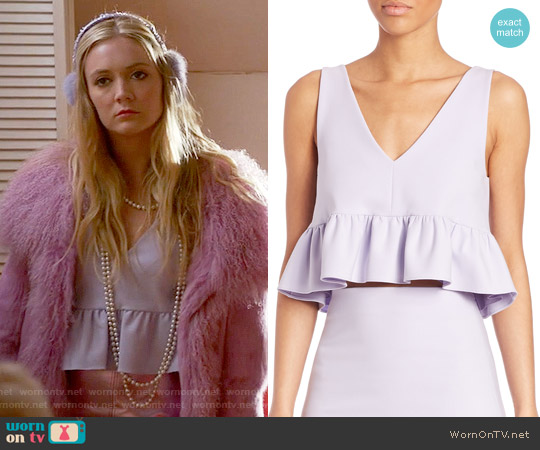 Elizabeth & James Analinne Top worn by Billie Lourd on Scream Queens