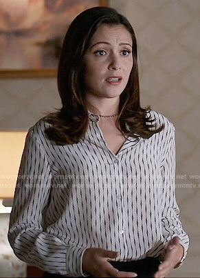 Emily's chain print blouse on Designated Survivor