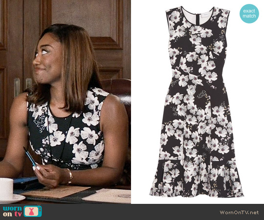 Erdem Jana Floral Dress worn by Patina Miller on Madam Secretary