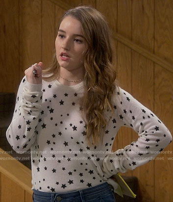 Eve's star print sweater on Last Man Standing