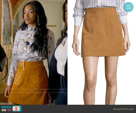 Frame Le High A-Line Skirt worn by Keke Palmer on Scream Queens