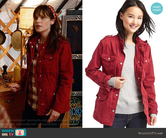Gap Classic Utility Jacket worn by Zooey Deschanel on New Girl