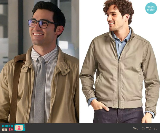 Gap Cotton Harrington Jacket worn by Clark Kent on Supergirl