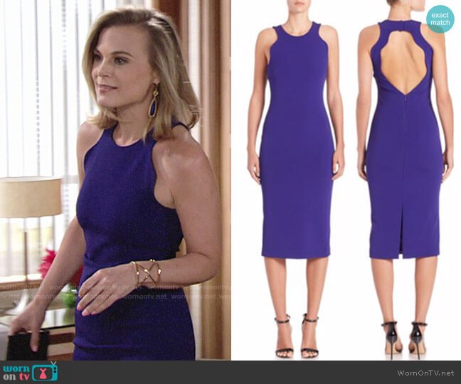 Giorgio Armani Cutout Sheath Dress worn by Phyllis Newman (Gina Tognoni) on The Young & the Restless