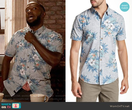 Globe Hibiscus Premium Fit Shirt worn by Lamorne Morris on New Girl