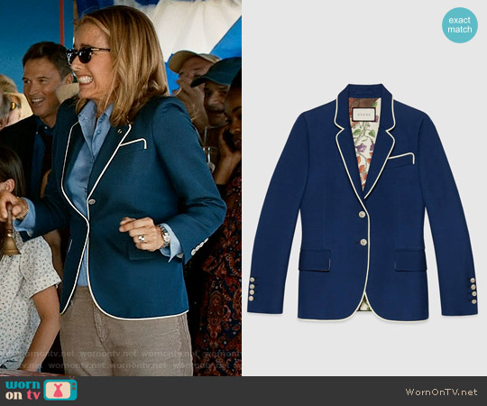 Gucci Silk-Wool Jacket worn by Téa Leoni on Madam Secretary