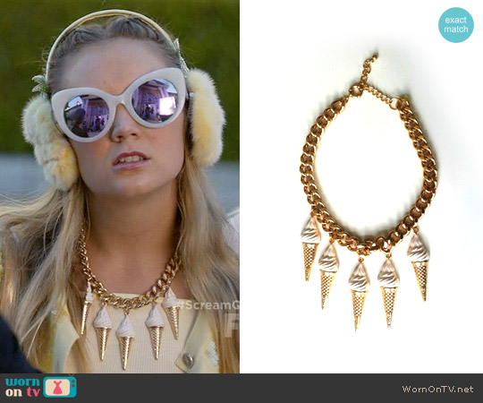 H&M Ice Cream Cone Necklace worn by Chanel #3 on Scream Queens