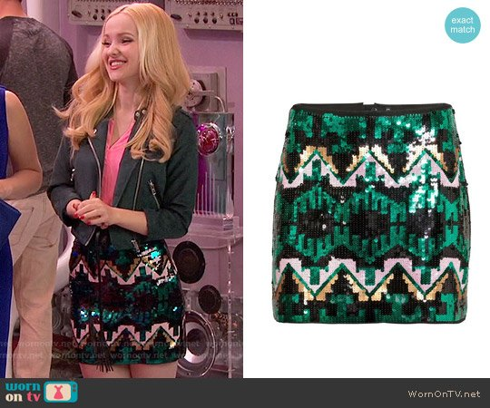 H&M Sequined Skirt worn by Liv Rooney (Dove Cameron) on Liv & Maddie