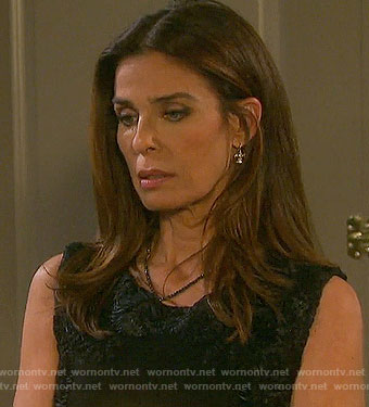Hope's black textured dress on Days of our Lives