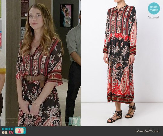 Isabel Marant Tilda Dress worn by Sutton Foster on Younger