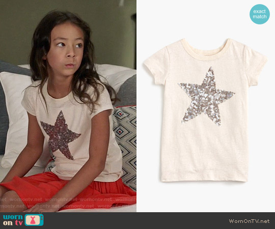 J. Crew Girls Sequin Star T-shirt worn by Aubrey Anderson-Emmons on Modern Family